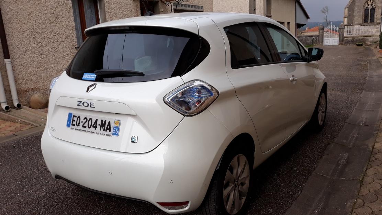 Renault Zoé Intens blanc nacré, caméra de recul