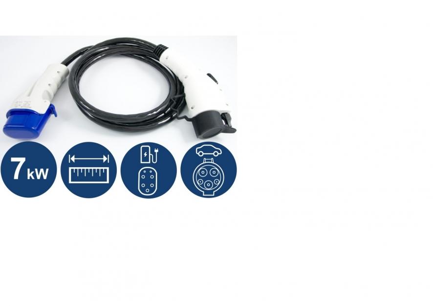 Wallbox  schneider EVlink  3.7 kw  et  câble type 1/type 3