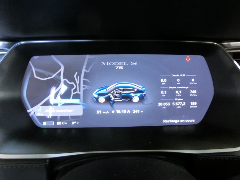 Tesla S75 AP2.0 30.000km mars 2017