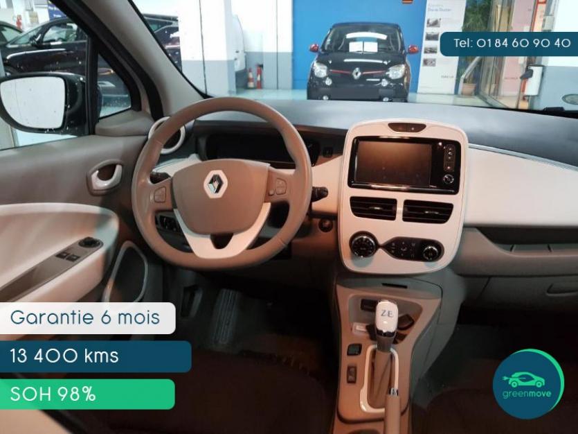 Renault ZOE Life 2016 blanche - 148 € par mois - Garantie 6 mois ou 7500 km (par Greenmove)