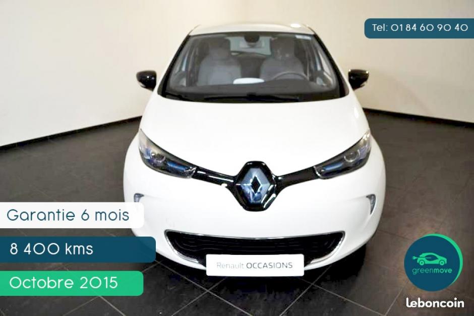 Renault ZOE Zen 2015, 8400 km, 138€/mois